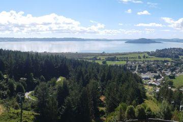 Family Travel view from Skyline Rotorua New Zealand