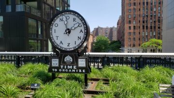 Time to Organize clock High Line NYC