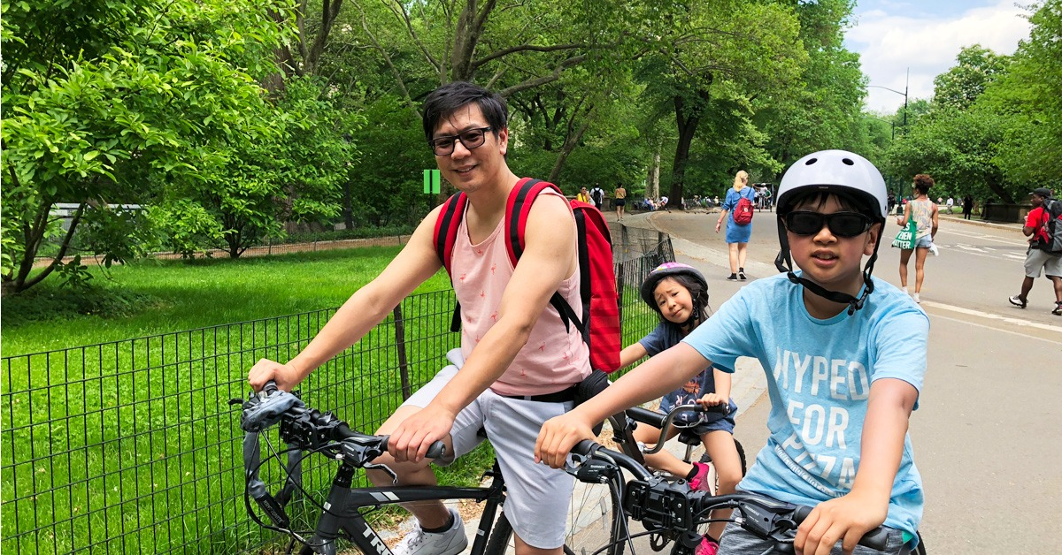 Biking at Central Park NYC
