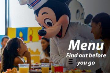 Disney Resort Menus