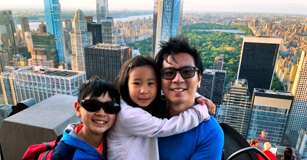 Family-Travel-Top-of-the-Rock-looking-at-Central-Park