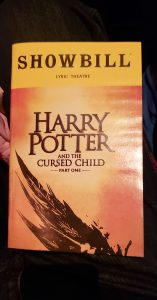Harry Potter Cursed Child showbill