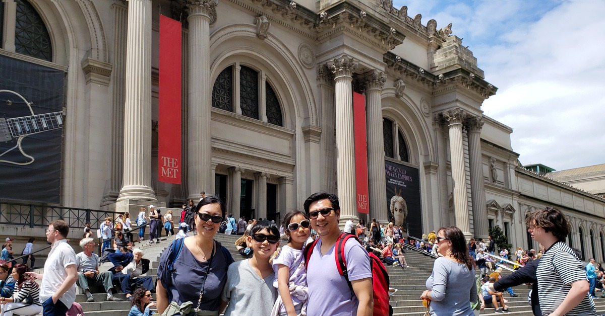 Journal of our last day of NYC trip, including the Met and Central Park