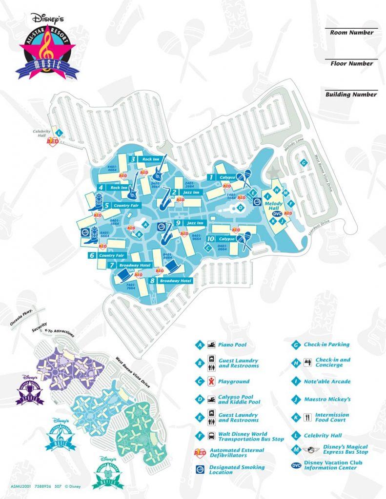 All-Star Music Resort Map