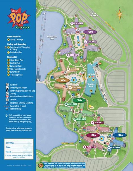 Resort Map at Pop Century Resort