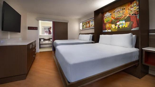 Refurbished standard room at All-Star Movies Resort