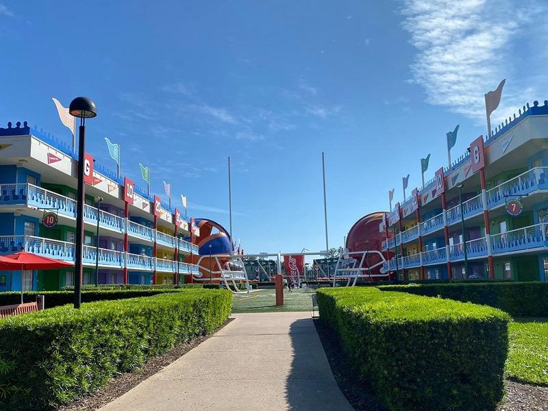 The football field at All-Star Sports Resort