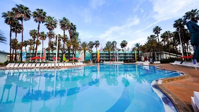 Surfboard pool at All-Star Sports Resort