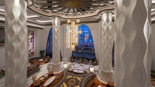 The impressive lobby at Gran Destino Tower