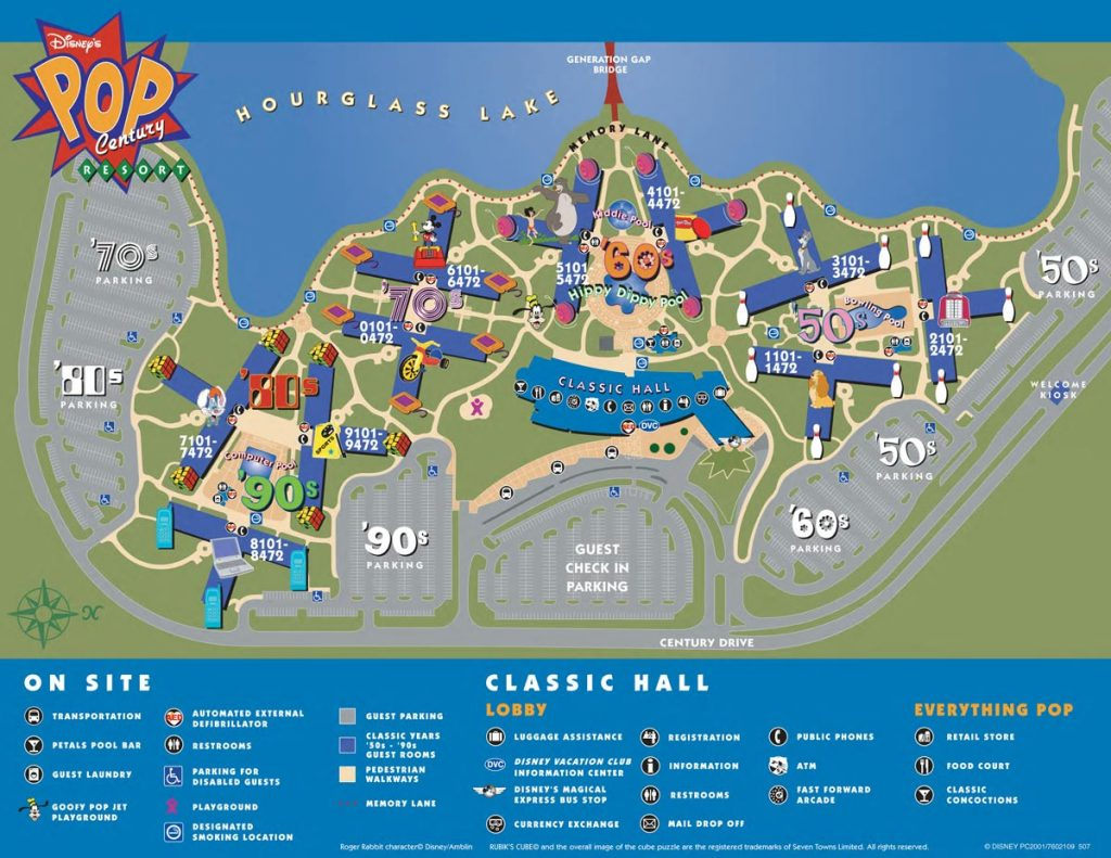 Pop Century Resort Map