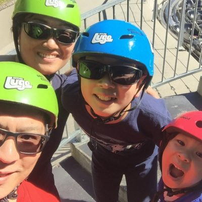 Family Luge fun